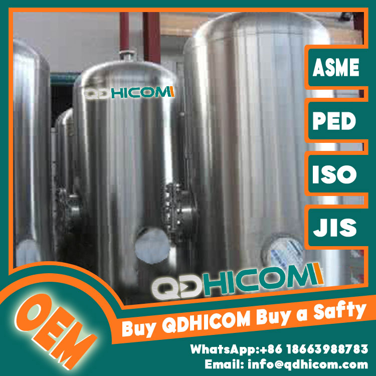 Stainless Steel Storage Tank 10000L 1.3Mpa